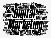 Digital Marketing word cloud collage Stock Photo