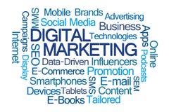 Digital Marketing Word Cloud royalty free stock photo