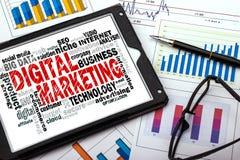 Digital marketing word cloud Stock Photos