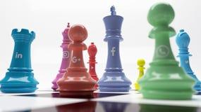 Digital-Marketingstrategie-Schach Stockfoto