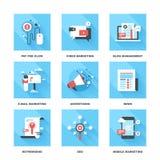 Digital marknadsföring Arkivfoto