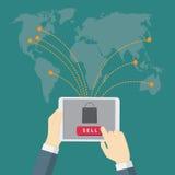Digital marknadsföring, e-kommers Arkivfoto