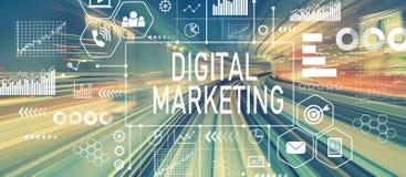 Digital marknadsföring med abstrakt snabb teknologi Royaltyfri Bild