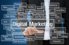 Digital marknadsföringsbegrepp Fotografering för Bildbyråer