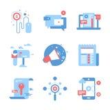 Digital marknadsföringsbegrepp royaltyfri illustrationer