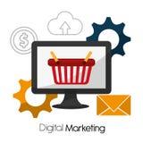 Digital marknadsföringsdesign royaltyfri illustrationer