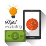 Digital marknadsföringsdesign vektor illustrationer