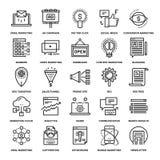 Digital marknadsföringssymboler royaltyfri illustrationer
