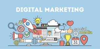 Digital marknadsföringsbegrepp Royaltyfri Bild