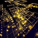 Digital matrix abstract art Stock Image