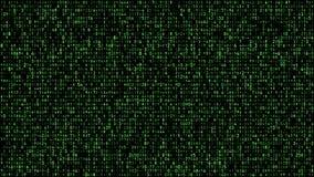 Digital matrix green stock illustration