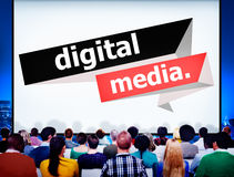 Digital Media Content Share Technology Concept Stock Photography