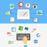 Digital media industry Stock Image
