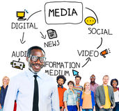 Digital Media Information Medium News Concept Royalty Free Stock Images