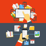 Digital media library Stock Photos