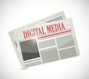 Digital media newspaper illustration design Royalty Free Stock Images
