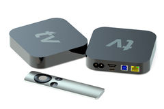 Digital Media Players back and front view Stock Photo