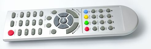 Digital media receiver Remote control from side Stock Photos