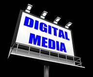 Digital Media Sign Shows Electronic Computer Royalty Free Stock Photo