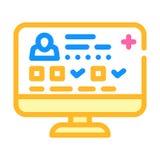 Digital medical card color icon vector illustration