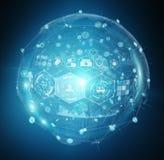 Digital medical sphere interface 3D rendering Stock Photos