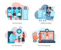 Digital Medicine Design Concept royalty free illustration