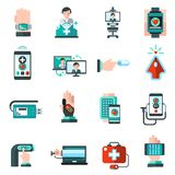 Digital Medicine Icons Royalty Free Stock Photos