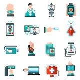 Digital Medicine Icons Royalty Free Stock Photos