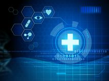 Digital medicine interface royalty free stock photography