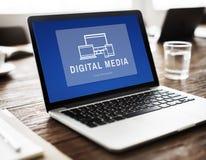Digital-Medien-Design-Innovations-Computer-Konzept stockfotos