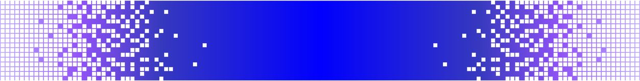 Digital Meets Analog Technology Banner - Blue Royalty Free Stock Images