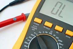 Digital meter. Closeup of a hand-held digital meter or diagnostic device royalty free stock photos