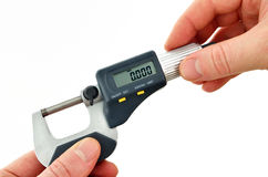 Digital micrometer Royalty Free Stock Image