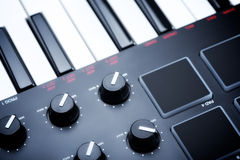 Digital Midi Keyboard Stock Photo