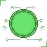 Digital-Mikrochiprahmen Lizenzfreie Stockfotos