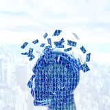 Digital mind. Futuristc concept of a digital mind Royalty Free Stock Photos
