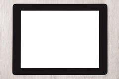 Digital minnestavla med den tomma vita skärmen Royaltyfri Foto