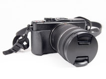 Digital mirrorless camera with zoom lense Stock Photos