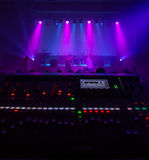 Digital mixing console as a concert Royalty Free Stock Photo