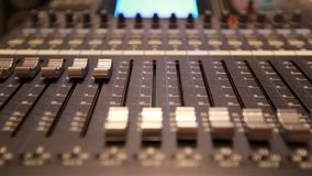 Digital Mixing Sound Studio stock video footage