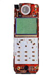 Digital mobile phone pcb. Digital mobile phone printed board with lcd display Stock Images