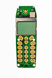 Digital mobile phone pcb. Digital mobile phone printed board with lcd display Royalty Free Stock Image