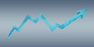 Digital modern blue arrow 3D rendering Stock Photography