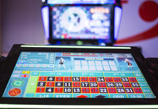 Free Digital Modern Roulette Table Monitor Stock Photography - 87699372