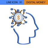Digital Money Idea vector icon.  Royalty Free Stock Photo