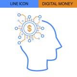Digital Money Idea vector icon.  Royalty Free Stock Photos