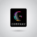 Digital monitoring services logo Royalty Free Stock Photos