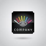 Digital monitoring services logo Royalty Free Stock Images