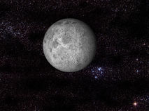 Digital moon in space Royalty Free Stock Image