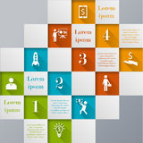 Digital mosaic infographic template stock illustration